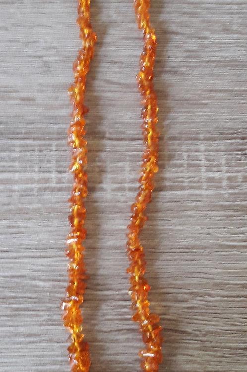 Ambre, collier pépites 45 cm pour adulte