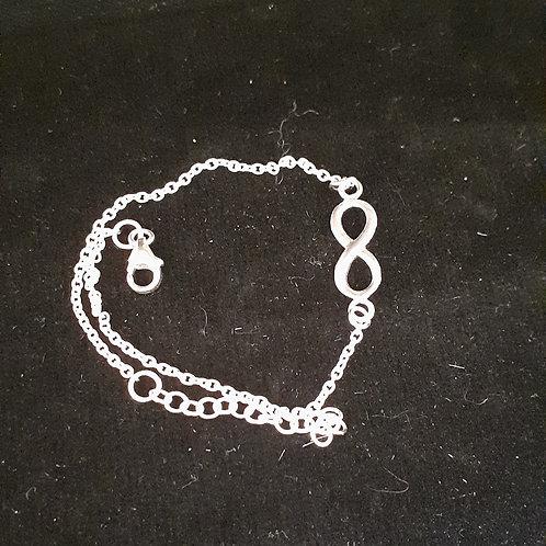 Bracelet sigle infini, en argent 925