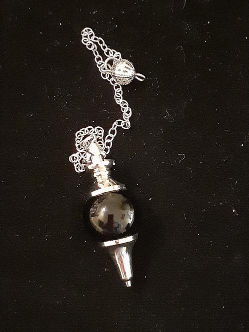 Obsidienne noire pendule boule