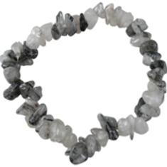 Cristal de roche et tourmaline, bracelet