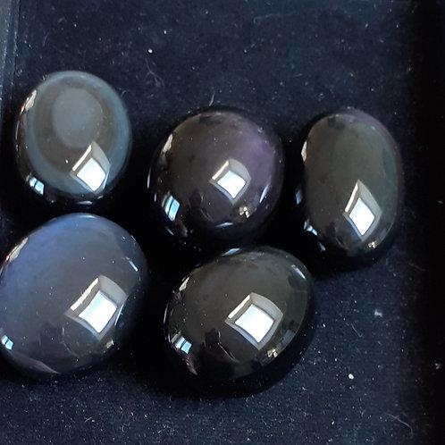 Obsidienne œil céleste, mini galet 25 g