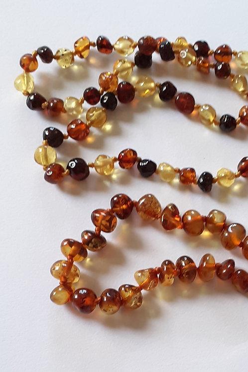 Ambre en perles, collier pour bébé