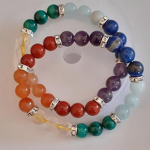 7 chakras, bracelet 8 mm Top