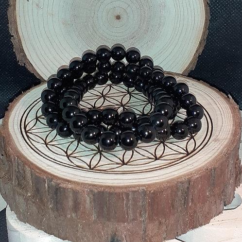 Tourmaline noire, bracelet perles 8 mm