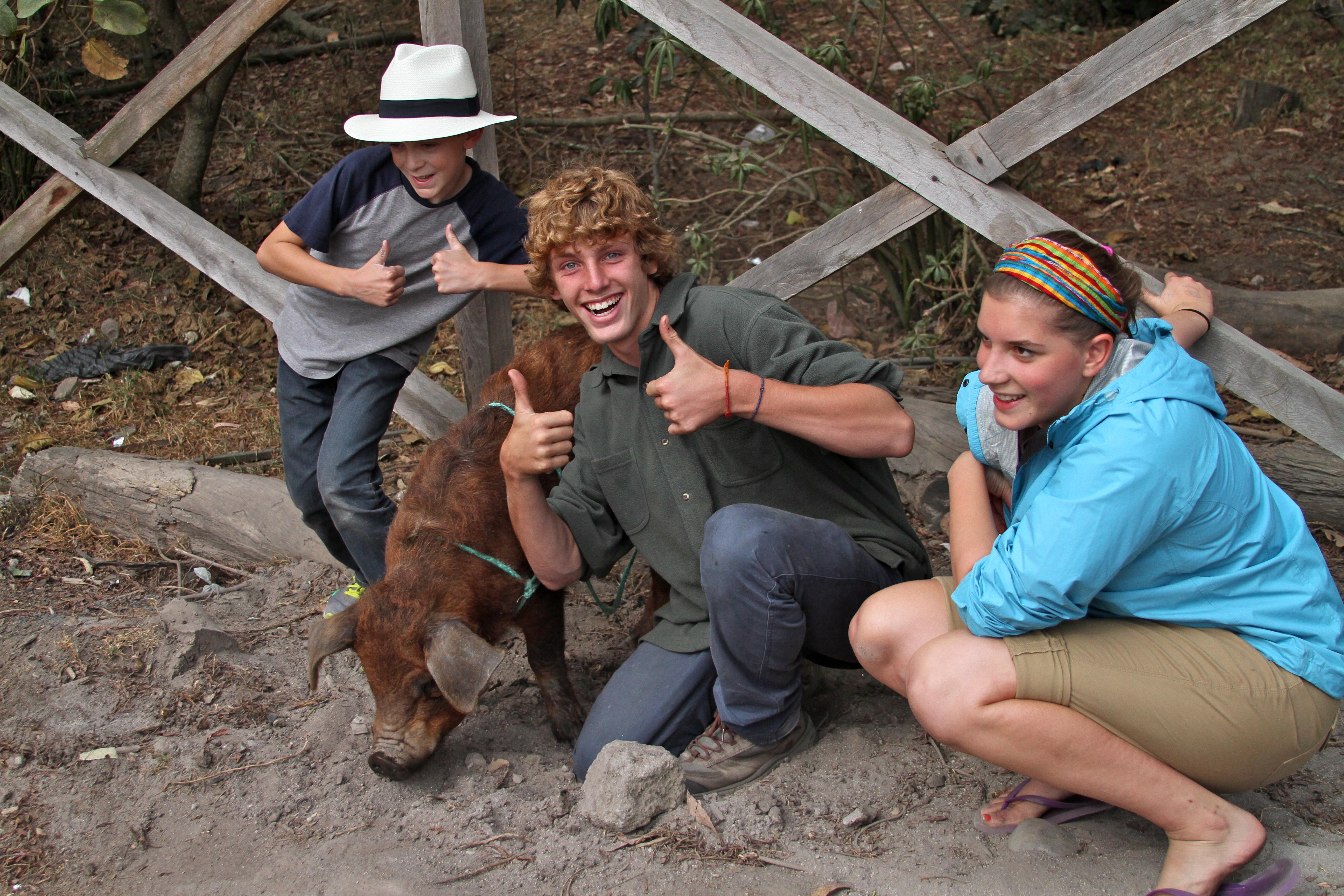Noah, Campbell, Ellie Ecuador
