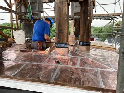 Master copper artist