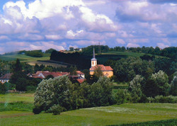 view from train in Croatia