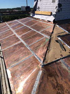 Copper steeple roof