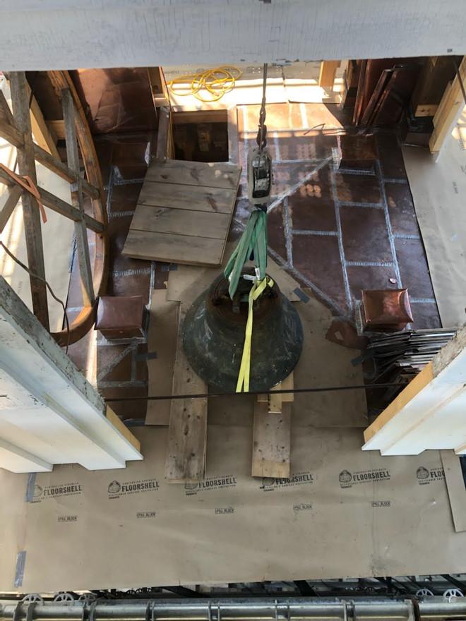 Looking down on Paul Revere Bell
