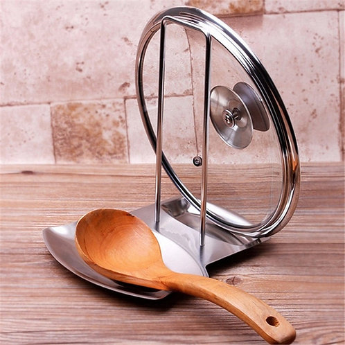 Stainless Steel Pot Cover Rack/Stand Spoon Holder
