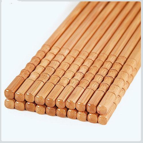 5Pair Handmade Natural Bamboo Wood Chopsticks