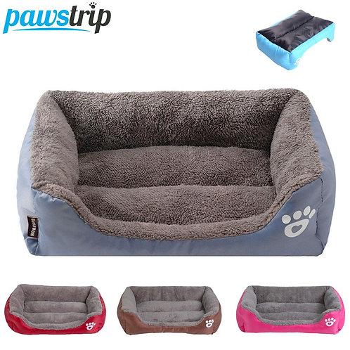 Soft Fleece Pet Sofa with Waterproof Bottom