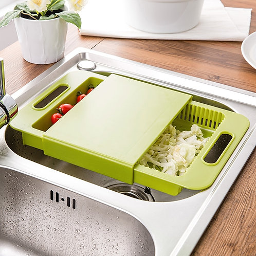 Multifunction Chopping Board with Drain Basket