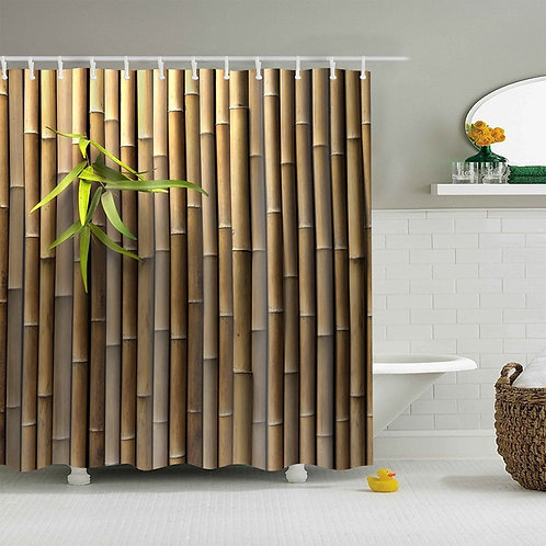 Tropical Waterproof Shower Curtain