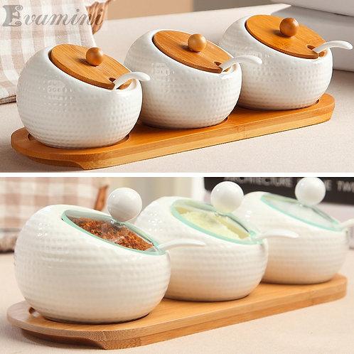 Ceramic Seasoning Storage Bowls
