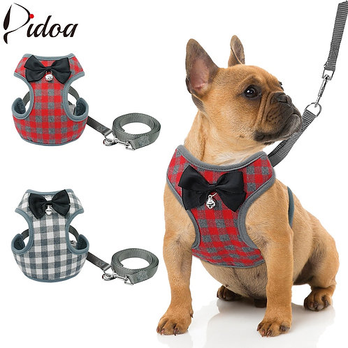 Small Pet Vest Harness and Leash Set