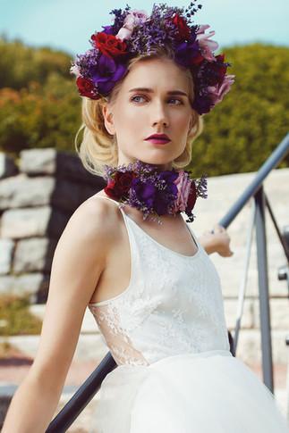 Photographer Wen Chen Floral Crown Arteflos Model Iris Makeup&hair Tiina Willman