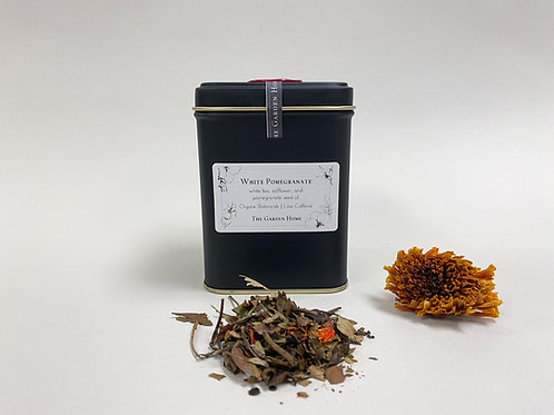 Large White Pomegranate - Organic White Tea - Low Caffeine