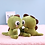 Thumbnail: Cute Dino T-Rex with Big Eyes - Stuffed Plush Toy Pillow Dinosaur