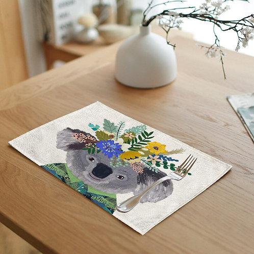 Koala Floral Crown Placemat