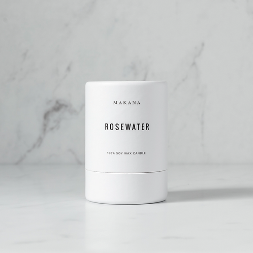 Rosewater - Soy Candle by MAKANA 3 oz - made in USA