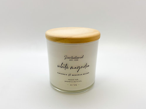 Scentsational - White Magnolia Candle 5 oz. Coconut and Beeswax Blend