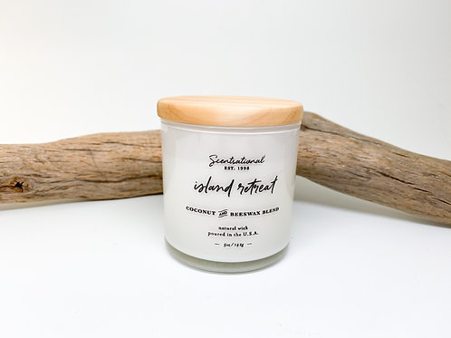 Scentsational Island Retreat Coconut Blend Scented Candle 5 oz.