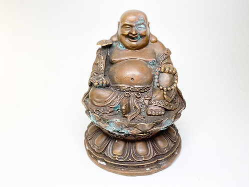 Vintage Bronze Good Fortune Buddha (Abundance and Happiness) - Buddha of Wealth
