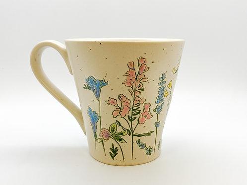 Floral Garden Imprint Ceramic Mug