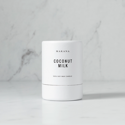 Coconut Milk - Soy Candle by MAKANA 3 oz - made in USA