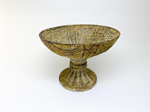 Vintage Style Metal Standing Trinket Bowl