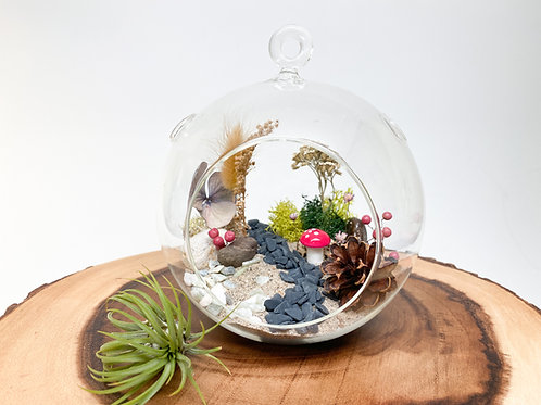 Design 25 - Large-Size Floral Garden Theme Terrarium Kit