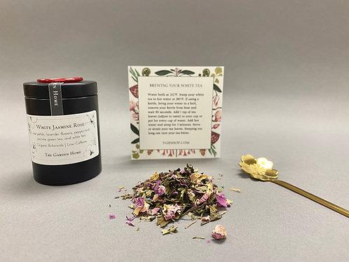 Organic White Tea - White Jasmine Rose - Low Caffeine