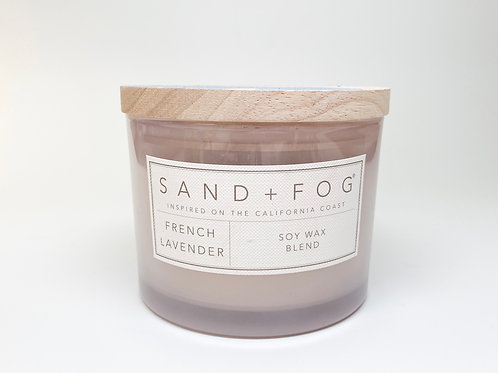 Sand + Fog - Doublewick French Lavender Soy Wax Blend Candle 12 o