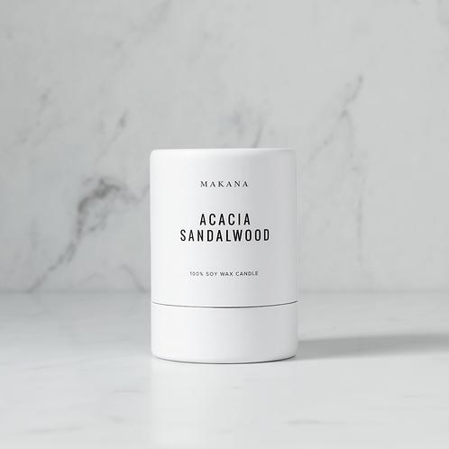 Acacia Sandalwood - Soy Candle by MAKANA 3 oz - made in USA