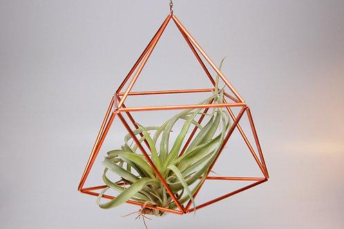 Design 20 - Large Triangular Hanging Copper Geometric Ornament (Himmeli)