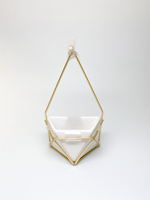 Geometric Hanging Wall Planter (no drainage hole)