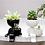 Thumbnail: Black Humanoid Porcelain Planter with Detachable Mini Pot - Vase
