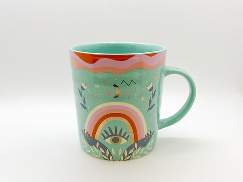 Constellation Third Eye Rainbow Opening Hands Mug