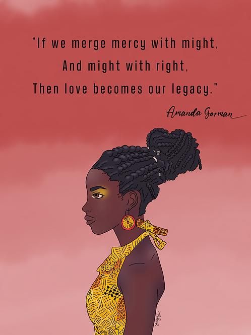 Amanda Gorman Quote Poster - TGH Original Print - 5x7, 8x10, 11x17