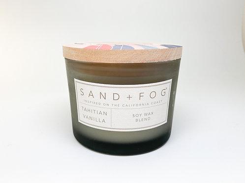 Sand + Fog - Doublewick Tahitian Vanilla Soy Wax Blend Candle 12 o