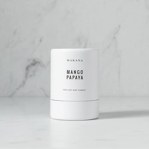 Mango Papaya - Soy Candle by MAKANA 3 oz - made in USA