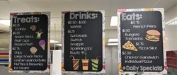 Treats, Drinks, & Eats Menu Board