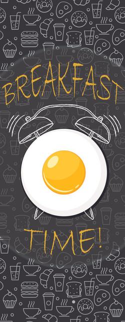 breakfast clock banner designmerged