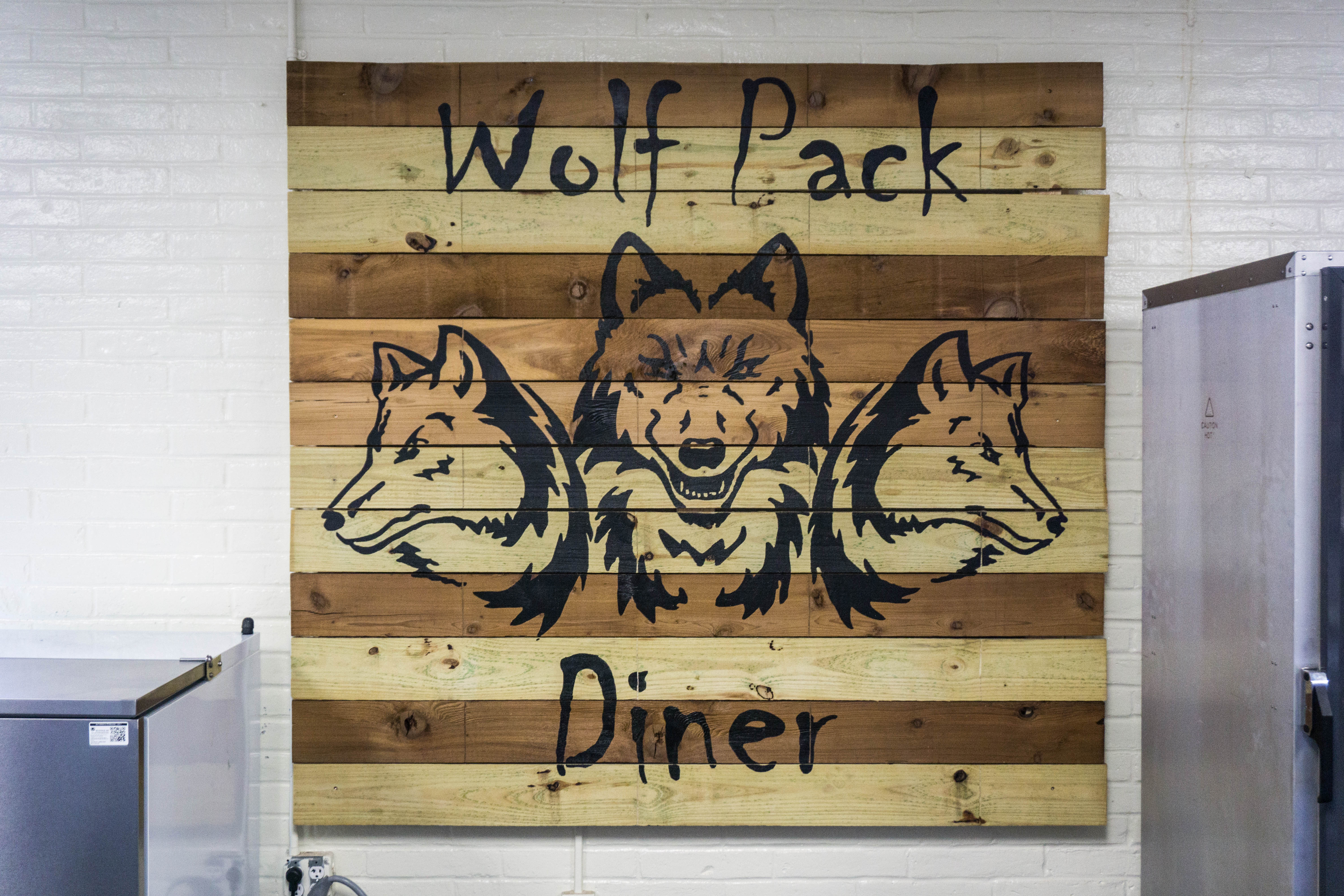 Wolf Pack Diner Name Baord