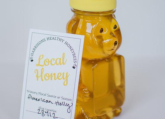 Raw American Holly Honey - 8oz Bear