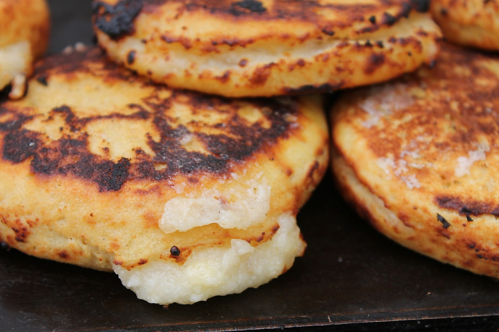 Arepas Colombian food