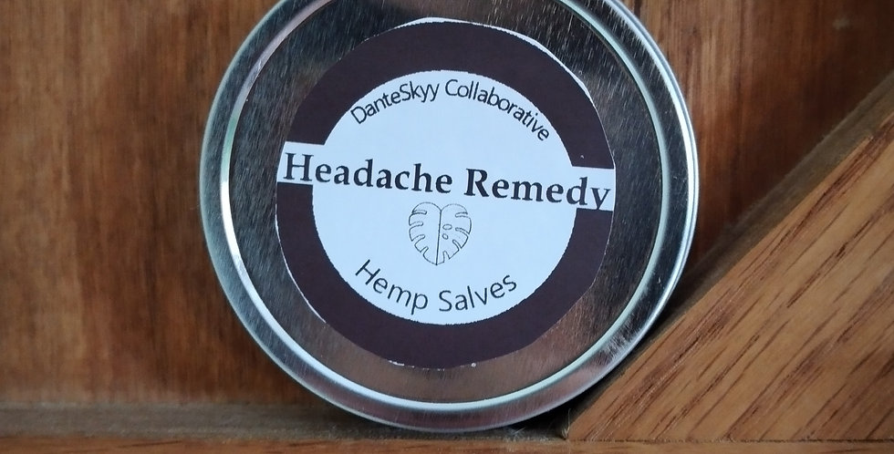 Headache Remedy Hemp Salve
