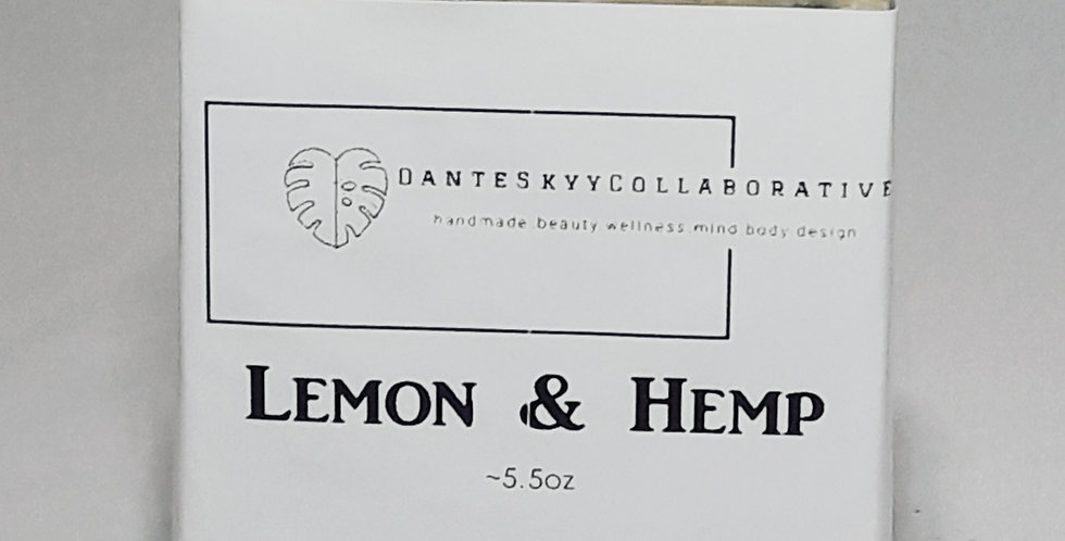 Lemon & Hemp Body Bar