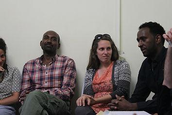 אסיפה כללית במרכז לקהילה האפריקאית בירושלים